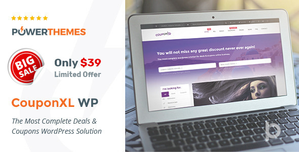 CouponXL v4.0.2 — Coupons, Deals & Discounts WP Theme