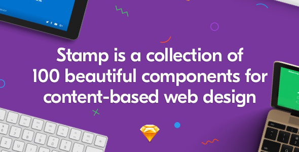 Stamp – 100 Beautiful Web Components