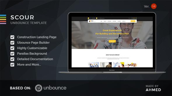 Scour — Construction Unbounce Landing Page