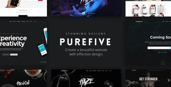 Purefive v1.1 — Multipurpose HTML5 Template