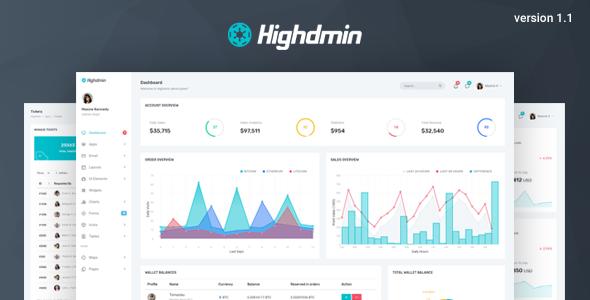 Highdmin v1.1 — Responsive Bootstrap 4 Admin Dashboard