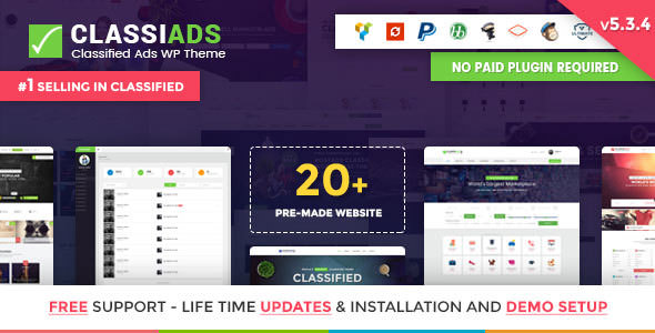Classiads v5.3.4 — Classified Ads WordPress Theme