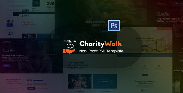 Charity Walk — Multipurpose Nonprofit PSD Template