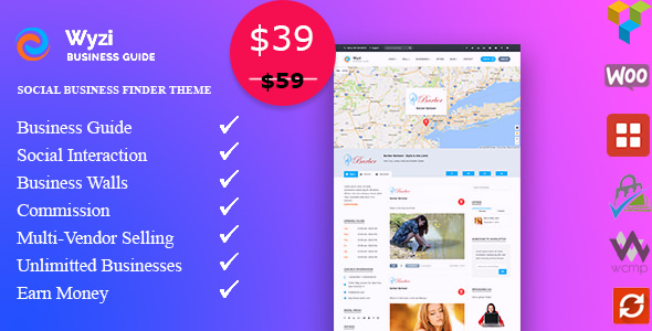 WYZI v2.1.7.4 — Social Business Finder Directory Theme