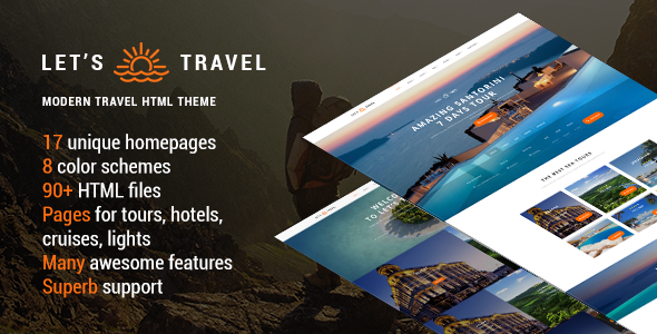 Let's Travel v1.1.1 — Responsive Travel Booking Site Template
