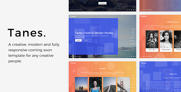 Tanes v1.0 — Creative Coming Soon Template