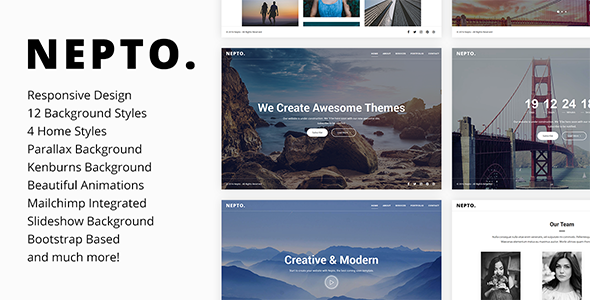 Nepto v1.1 — Responsive Coming Soon Template