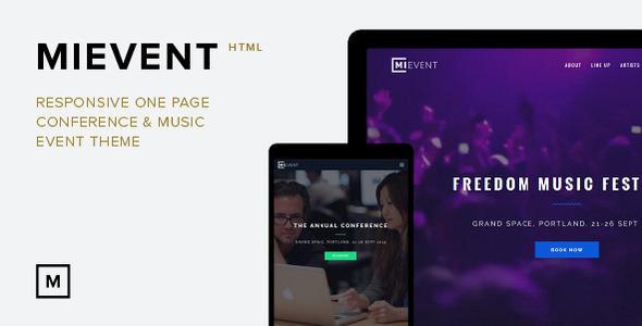 MiEvent v1.0 — Responsive Parallax Event & Music Theme