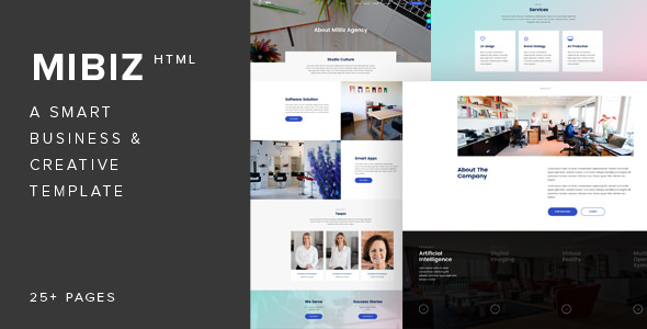 MiBiz v1.0 — A Smart Multipurpose Template for Business & Agencies