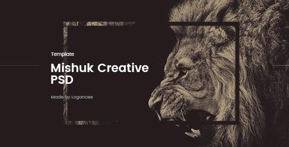 Mishuk v1.0 — Creative PSD Template