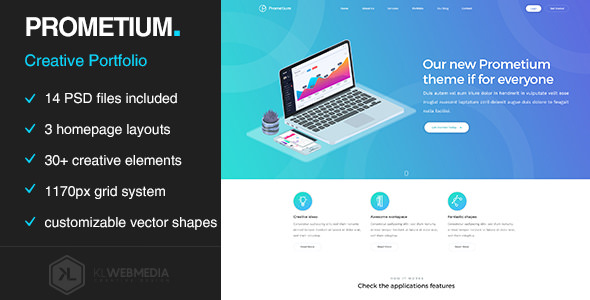 Prometium v1.0 — Multi-Purpose PSD template