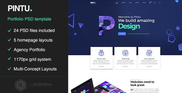 Pintu — Portfolio PSD template