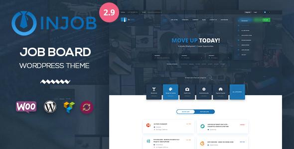 InJob v2.9 — Job Board WordPress Theme