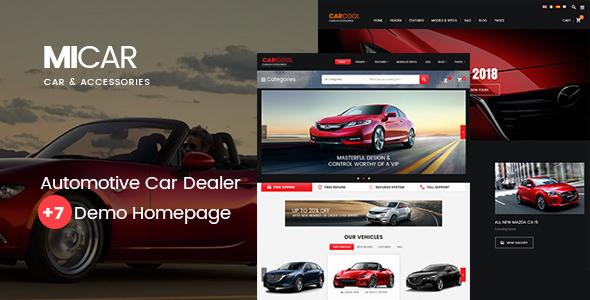 Micar v1.4 — Auto Dealer RTL WooCommerce WordPress Theme