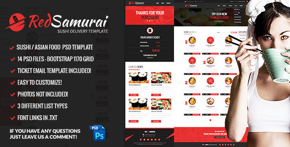 Red Samurai — PSD Template