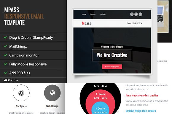 Mpass — Responsive Email Template