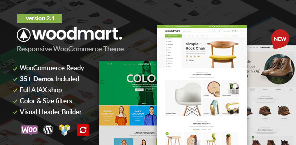 WoodMart v2.1 — Responsive WooCommerce WordPress Theme