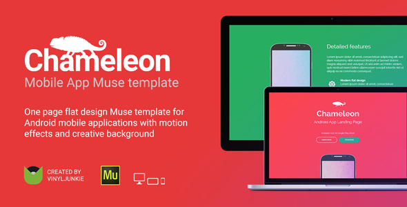 Chameleon — Android App Promo Site Muse Template