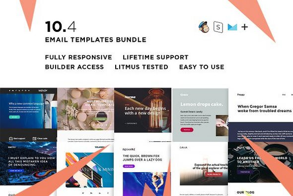 10 Email templates bundle IV