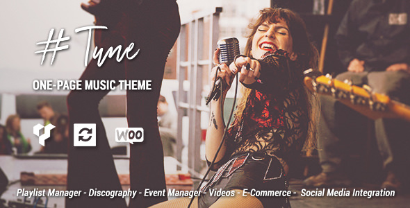 Tune v1.7.0 — One-Page Music WordPress Theme
