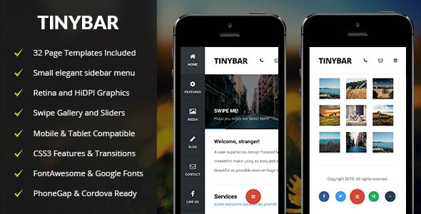 Tinybar Mobile — Mobile Template