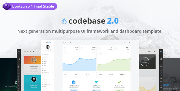 Codebase v2.0 — Bootstrap 4 Admin Dashboard Template