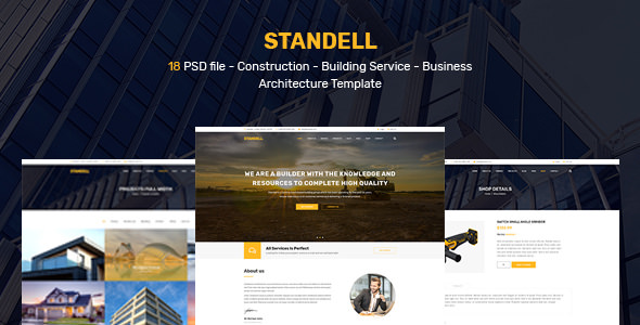 Standell v1.0 — Multipurpose Construction PSD Template