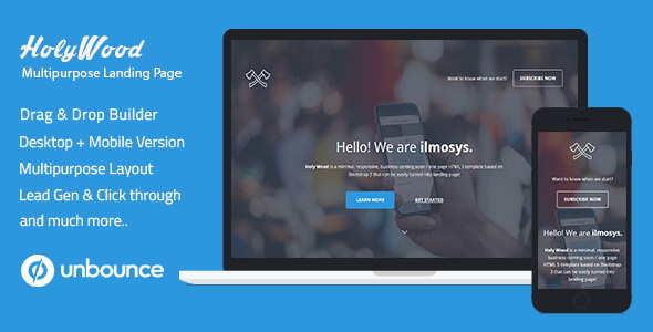 Holy Wood v1.0 — Unbounce Multipurpose Landing Page Template