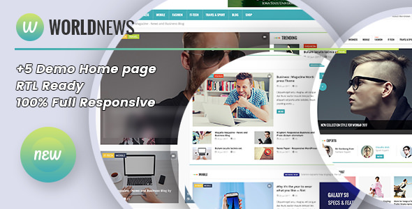 WorldNews v1.4 — Magazine RTL Responsive WordPress