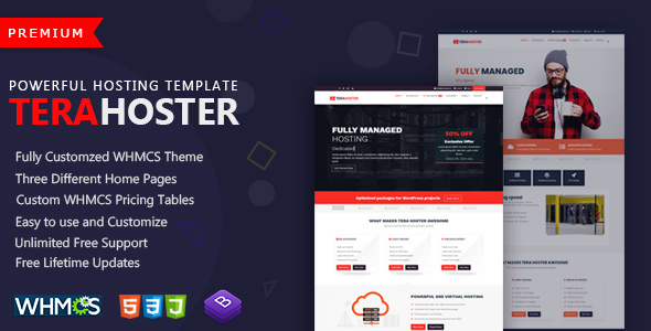 TeraHoster — Professional Hosting Template with WHMCS