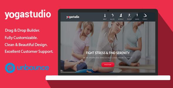 Yoga Studio v1.0 — Unbounce Landing Page Template