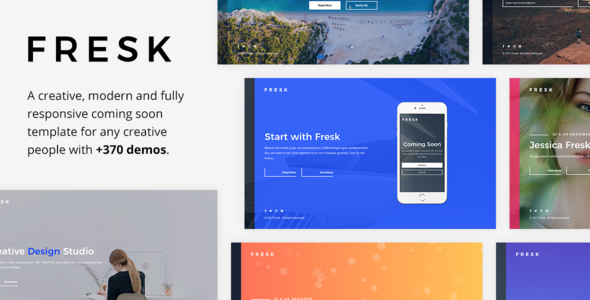 Fresk v1.0.1 — Creative Coming Soon Template