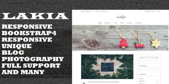 Lakia — HTML Blog Template