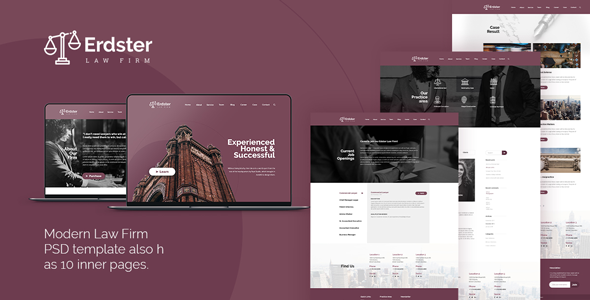 Erdster — Law Firm PSD Template