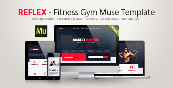 Reflex — Fitness Gym Muse Template