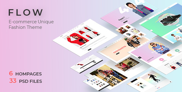 Flow v1.0 — Clean, Minimal Store PSD Template