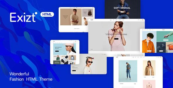 Exist v1.0 — Wonderful Fashion HTML Template