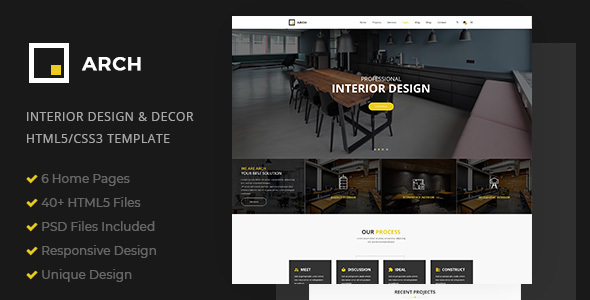 Arch Decor v1.0 — Interior Design, Architecture and Building Business HTML5 Template