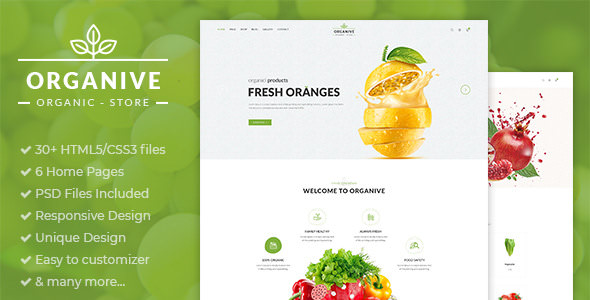 Organive v1.0 — Organic Store & Eco Food Products HTML5 Template