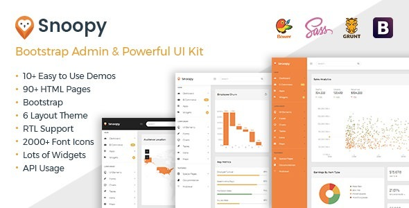 Snoopy v1.0 — Multipurpose Bootstrap Admin Dashboard Template + UI Kit