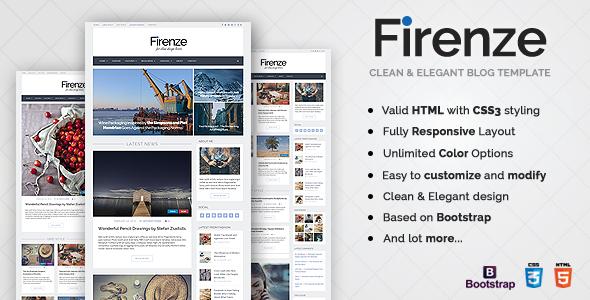 Firenze — Responsive Blog HTML5 Template