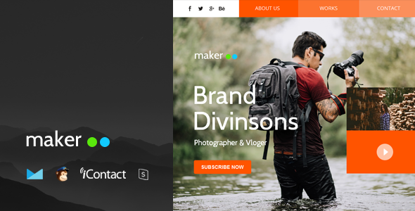 Maker Mail v1.0 — Responsive E-mail Template + Online Access