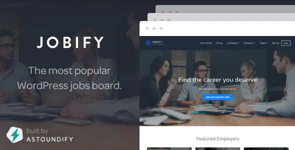 Jobify v3.8.5 — Themeforest WordPress Job Board Theme