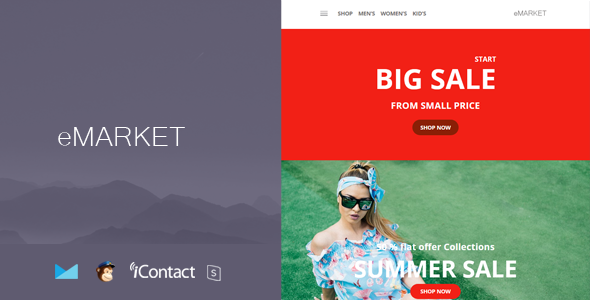 eMarket Mail v1.0 — Responsive E-mail Template + Online Access