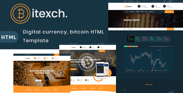 Bitexch v1.0 — Digital Currency and Bitcoins HTML Template