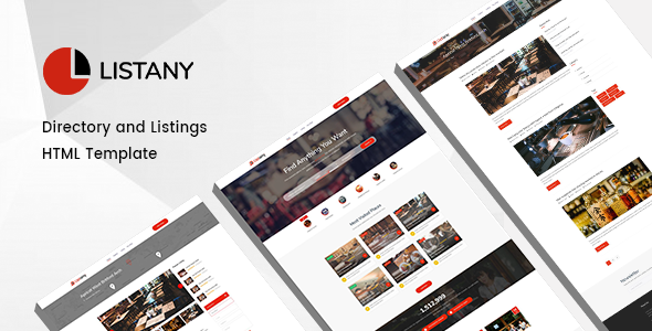 Listany v1.0 — Directory and Listings HTML Template