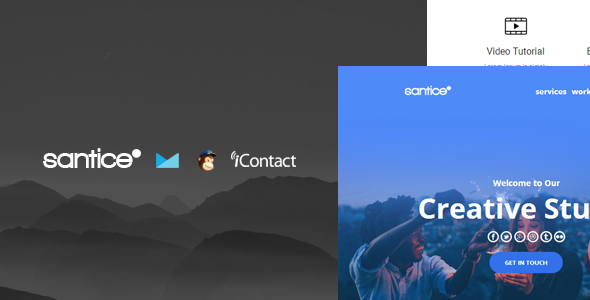 Santice Mail v1.0 — Responsive E-mail Template + Online Access