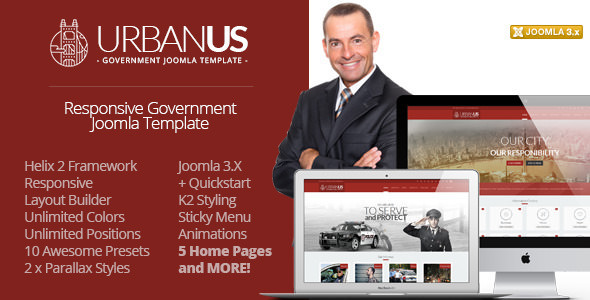 Urbanus — Responsive Government Joomla Template