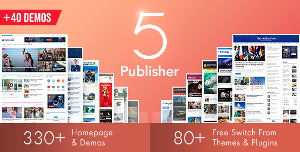 Publisher v5.0.0 — Newspaper Magazine AMP