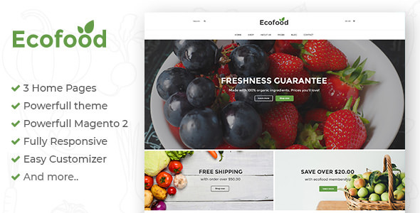Ecofood — Responsive Organic Store Magento 2 Theme